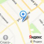 Янтарь на карте Хабаровска