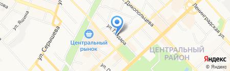 Чемодан на карте Хабаровска