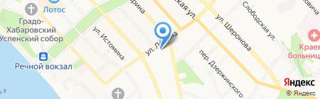 Плеяна на карте Хабаровска