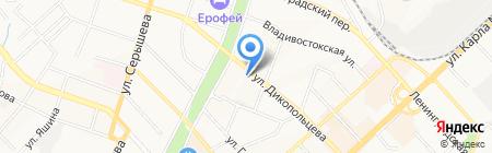 Гаечка на карте Хабаровска