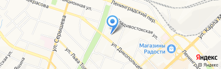 Дядя Вася на карте Хабаровска