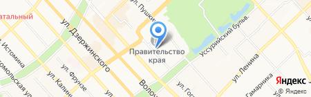 Хабаровский строительный техникум на карте Хабаровска