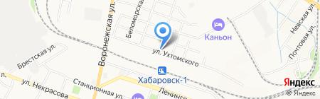 Мясоешка на карте Хабаровска