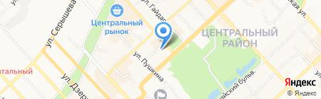 Клён на карте Хабаровска