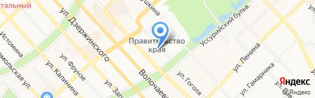 Управление молодежной политики Министерства спорта и молодежной политики на карте Хабаровска