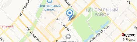 Glance на карте Хабаровска