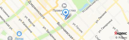 Веат на карте Хабаровска