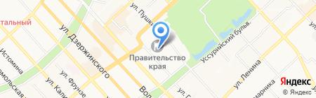Приемная главного Федерального инспектора по Хабаровскому краю на карте Хабаровска