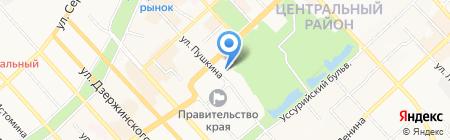 Хабаровская аренда на карте Хабаровска