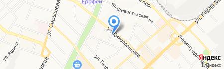 Эффект на карте Хабаровска