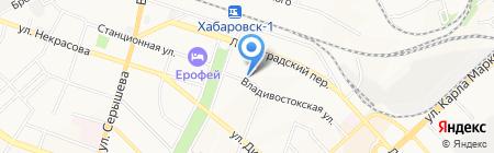 Визави на карте Хабаровска