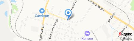 Автостоянка на Сигнальной на карте Хабаровска