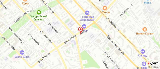 Карта расположения пункта доставки Хабаровск Ленина в городе Хабаровск