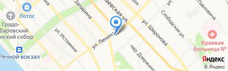 Виртуаль на карте Хабаровска