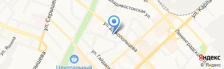 Академия красоты на карте Хабаровска