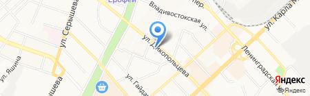 Стриж на карте Хабаровска