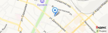 Звезда на карте Хабаровска
