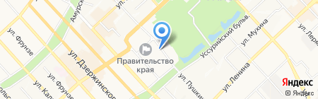 Пять звезд на карте Хабаровска