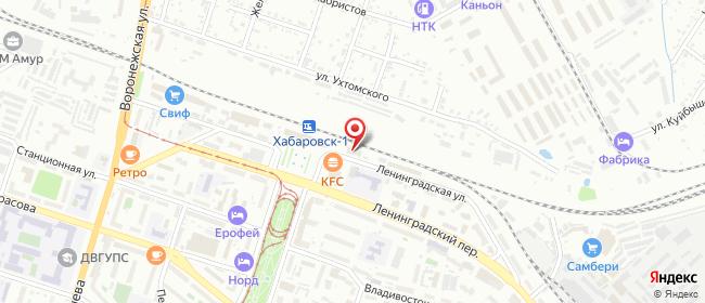 Карта расположения пункта доставки Хабаровск Ленинградская в городе Хабаровск