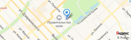 ХОСКА на карте Хабаровска
