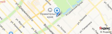 Стержень на карте Хабаровска
