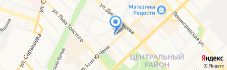 Копирка на карте Хабаровска