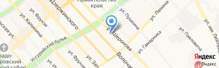Внешпромбанк на карте Хабаровска