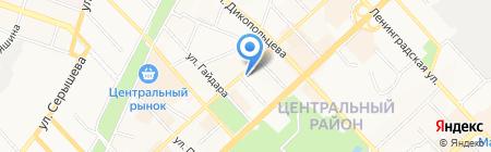 Алмила на карте Хабаровска