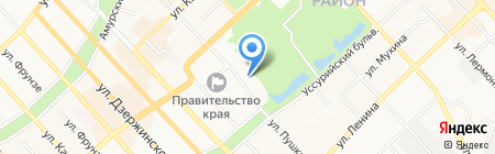 Коктейльный лед на карте Хабаровска