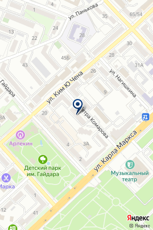 Платформа 27 на карте Хабаровска