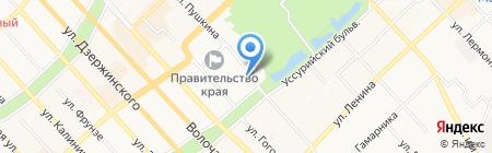 Глянец на карте Хабаровска