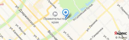 Дальперспектива на карте Хабаровска