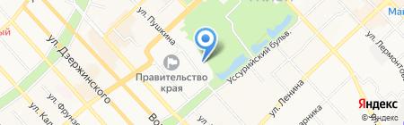 География на карте Хабаровска