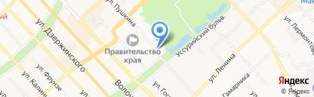 Колесо путешествий на карте Хабаровска