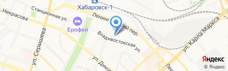 Услада на карте Хабаровска