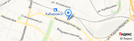 Легко Транс-Амур на карте Хабаровска