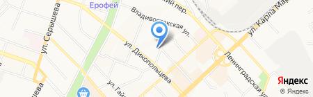 Хабаровский гарнизонный военный суд на карте Хабаровска
