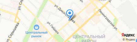 Деккер на карте Хабаровска
