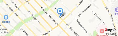 Детская городская поликлиника №1 на карте Хабаровска