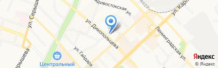 Вычислительный центр ДВО РАН на карте Хабаровска