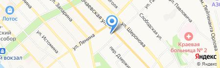 Авилес-ДВ на карте Хабаровска