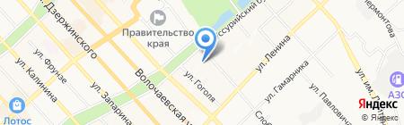 Кондитерская лавка на карте Хабаровска