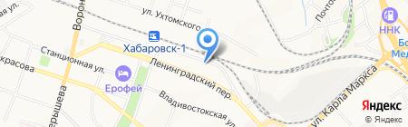 Терминал на карте Хабаровска