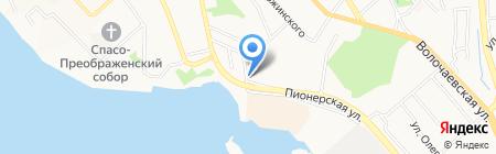 Шиномонтажная мастерская в Гражданском переулке на карте Хабаровска