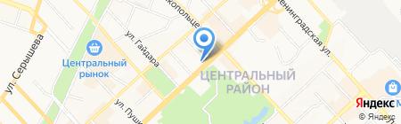 Фотокопировальный центр на ул. Нагишкина на карте Хабаровска