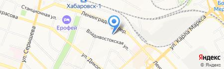 Керенг на карте Хабаровска