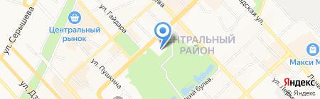 Хабаровский краевой музыкальный театр на карте Хабаровска