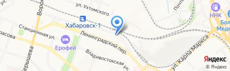 Mail Boxes Etc на карте Хабаровска