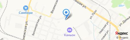 Лагуна на карте Хабаровска