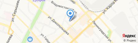 Самбист на карте Хабаровска
